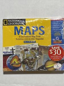 Vintage National Geographic Every Map From Magazines Geography Learning 8 CD ROM