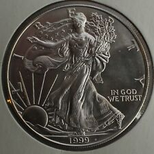 1999 BU American Silver Eagle Dollar Uncirculated ASE US Mint Bullion Coin