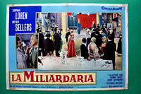 T05 Fotobusta Die Millionärin Sophia Loren Peter Sellers Vittorio De Sica Price