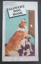 1937 GLOVER'S DOG BOOK, Virgil's Pharmacy, Rensselaer, NY, Collie & Terrier Cvr