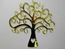 Tree ,Yellow Acrylic Mirror, 60cm