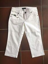 Damen 7/8 Jeans Hose kurze Hose weiß schlicht Gr. 40 von Only