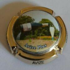 Capsule de champagne Avize n° 12c plaqué  Or Numérotée  200 EX