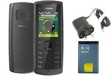 NUOVA condizione Nokia X1-01 Dual Sim colore grigio facile da usare Sbloccato Telefono Cellulare
