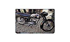 Bantam D10 Motorbike Sign Metal Retro Aged Aluminium Bike