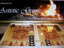Persian Sun & Lion Hand Made Luxury Backgammon Board