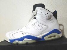 """Men´s Nike Air Jordan 6 VI Retro OG """"Sport Blue"""" Size 9 White 384664-107 unc"""