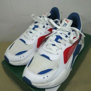Puma RS-X Hard Drive JR Running Shoes Youth Big Kids White/Red/Blue Size 5.5 C