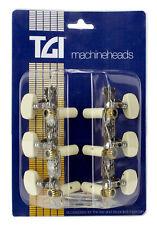 TGI Machineheads. Classical 3 in a Line. Nickel.