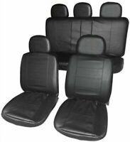 Streetwize Leather Look Car Seat Covers - Black-GT-87.