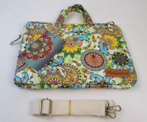 """Malirona Canvas Fabric Tablet  Sleeve Case Bag Cover 12 """"x 9""""Blooming Girls NEW"""