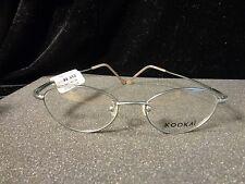 Kookai Full Rim Silver Metal Eyeglass Frames - 48mm 18mm 140mm - CANDIDE - #0248