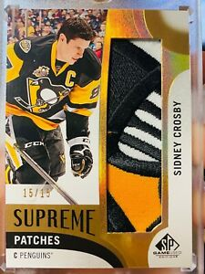 2017-18 SP Game Used - Sidney Crosby - Supreme Patches /15 - Penguins
