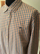 """Mustang ~ small check all cotton l/sleeve summer shirt L 42-43"""""""