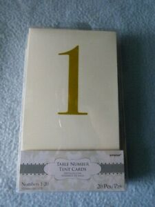 Table Number Tent Cards 1-20 Wedding / Shower Centerpiece ~ NEW ~ Fast Shipping!