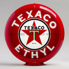 "Texaco Ethyl 13.5"" Gas Pump Globe w/ Red Plastic Body (G194)"