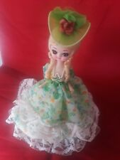 """Bradley Doll Cloth Body And Painted Face 13"""" Tall"""