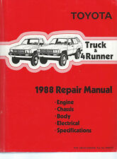 1988 Toyota Dlx & Sr5 Pickup Truck & 4Runner Repair Manual: Factory / Original