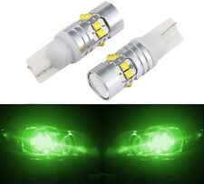 LED Light 50W 168 Green Two Bulbs Front Side Marker Parking Show Replace OE T10