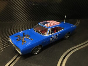 PIONEER SLOT CAR UNBOXED DODGE CHARGER GENERAL GRANT - COMPATIBLE SCALEXTRIC DPR