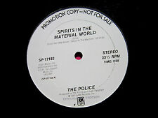 """THE POLICE  Spirits in the Material World - Near Mint Promo 12"""" Vinyl  A&M 17182"""