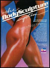 THE BODYSCULPTURE SYSTEM__Original 1986 print AD / video advert__TINA PLAKINGER