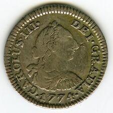☆ SPANISH SILVER • COLONIAL ½ REAL 1774 POTOSI  JR • CARLOS III ☆ BOLIVIA ☆C3294