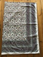 Made In India Cotton Paisley Block Print Throw Upcycling Crafting