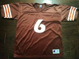 Vintage Cleveland Browns NFL Football Champion Jersey #6 Baker Mayfield Mens 44