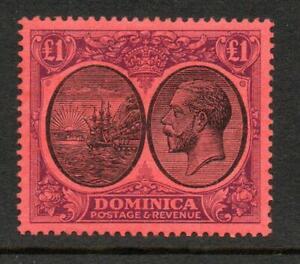 Dominica SG91 £1 George V 1923  VLMM CV £225