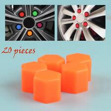 17mm Orange Silicone Car Wheel Lug Nut Caps Bolt Cover Fit VW Audi 20pcs
