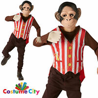 Childs Boys Mr Monkey Chimp Animal Zoo Book Week Fancy Dress Party Costume