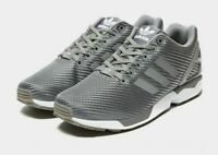 Stock Clearance Adidas ZX FLUX GREY Trainers UK 8