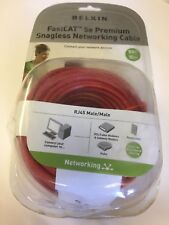 Belkin - Fastcat 5E Premium Snagless Networking  50 FOOT  A3L850A50-RED-S   RED