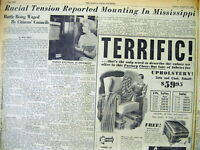 1955 newspaper SOUTH fights for RACIAL SEGREGATION after US SUPREME COURT decisi