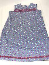 Hanna Andersson 150 Sleeveless Light Blue Polka Dot Dress EUC