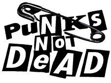 PUNKS NOT DEAD A5  IRON ON TRANSFER A5 DESIGN  T SHIRT TRANSFER 8X6 PUNK ROCK