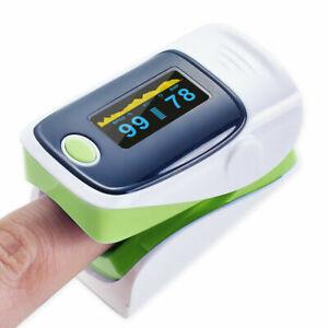 Fingertip Pulse Oximeter Blood Oxygen Saturation SpO2 Finger Monitor Meter Green