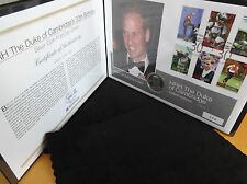 2012 SILVER PROOF GUERNSEY £5 COIN PNC + COA PRINCE WILLIAM 30th BIRTHDAY 1/495