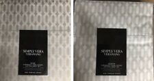 Simply Vera Wang Geometric Supima Cotton 4 Piece Sheet Set Queen, Full