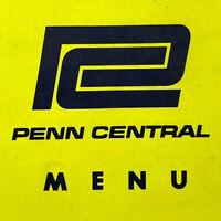 Vintage 1969 Penn Central Menu Train Railroad Pennsylvania