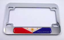 Philippine flag Motorcycle Bike plastic ABS Chrome Plated License Plate Frame