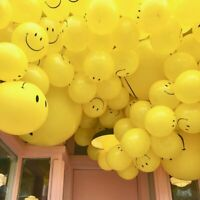 "10 X12"" SMILEY YELLOW LARGE FACE BALLOONS LATEX RUBBER HELIUM PARTY BALLOON GOOD"