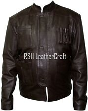 Han Solo Star Wars The Force Awakens  Dark Brown Real Leather Jacket (All Sizes)
