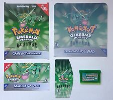 Nintendo Game Boy Advance GBA Pokemon Emerald Not For Resale Cart + Promo Items