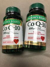 2 Nature's Bounty Co Q-10 100mg Plus (with L carnitine), 60 Softgels Exp 1/21