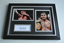 Amir Khan Signed A4 FRAMED photo Autograph display Boxing Sport AFTAL & COA
