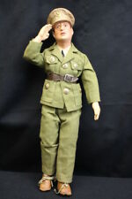 "Mint Antique WW II 1942 Freundlich - General MacArthur Military Molded 18"" Doll"