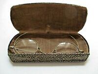 Rare Vintage Eye Glasses w/Wire Rim Early 1900's In Case Hammond Optical Co.