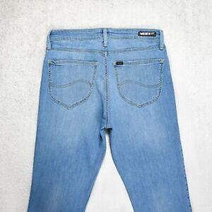 Womens LEE Elly Slim fit Jeans Size W31 L29 Zip Fly Stretch Light Blue Denim